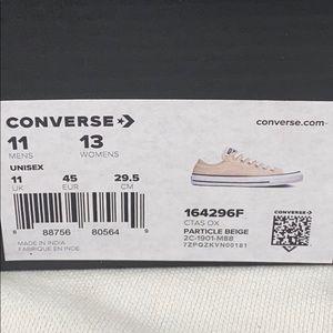 Converse Shoes - NEW Converse Chuck Taylor Low 11 Particle Beige